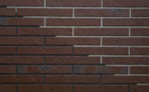 Клинкерная фасадная плитка ABC Alaska Braun kohlebrand Schieferstruktur