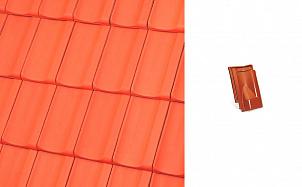 Керамическая черепица вентиляционная Roben Rheinland натуральный красный