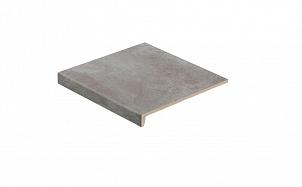 Клинкерная ступень прямоугольная рядовая Stroeher Loftstufe Keraplatte Aera T 705 beton