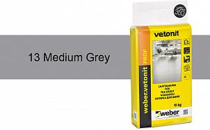 Затирка для швов weber.vetonit Prof 13 Med grey 15 кг