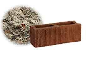 Облицовочный бетонный камень торцевой Меликонполар СКЦ 2Л-13 серый