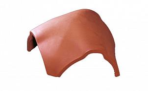 Керамическая черепица вальмовая шпунтованная 21 см TONDACH 13 - коричневый ангоб