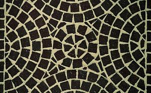 Тротуарная клинкерная мозаика Feldhaus Klinker М502 umbra plano