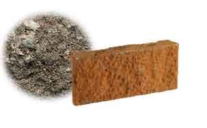 Облицовочный бетонный камень рядовой Меликонполар СКЦ 2Л-17 черный