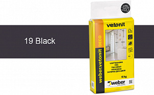 Затирка для швов weber.vetonit Deco 19 Black