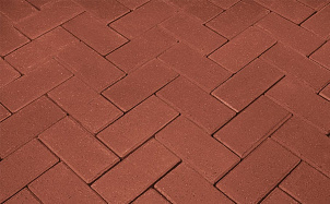 Тротуарная клинкерная брусчатка Penter rot без фаски