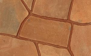 Песчаник красный обожженный рваный край