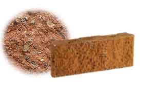 Облицовочный бетонный камень рядовой Меликонполар СКЦ 2Л-11 красный 1