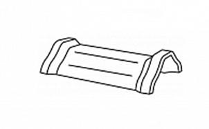 Керамическая центральная коньковая черепица с муфтами BRAAS Саттель королевский серый глазурь