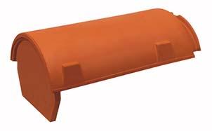 Керамическая черепица начальная коньковая Koramic № 25 Copper Brown Engobe