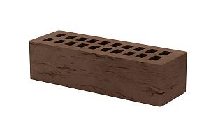 Кирпич лицевой керамический пустотелый Тербунский гончар корица (шоколад) старый город (риф) 250*85*65 мм (г. Липецк)