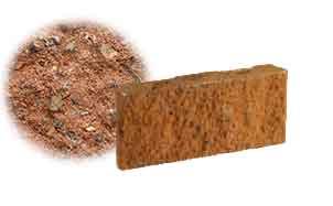 Облицовочный бетонный камень рядовой Меликонполар СКЦ 2Л-17 красный 1