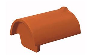 Керамическая черепица конечная коньковая Koramic № 16 Red Engobe