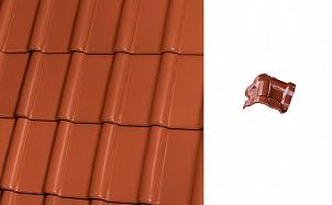 Керамическая черепица вальмовая Roben Piemont медный красно-коричневый ангоб