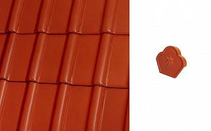Коньковый конечный торцевой элемент Roben Piemont каштановый глянцевый ангоб