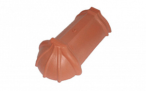Керамическая черепица коньковая шпунтованная 21 см TONDACH 10-красный ангоб