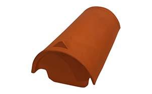 Керамическая черепица начальная коньковая Koramic № 30 Noble Black