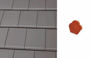Коньковый конечный торцевой элемент Roben Bergamo Grau