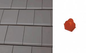 Начальный коньковый торцевой элемент Roben Bergamo Grau