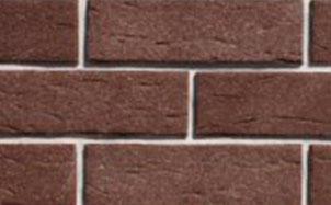 Фасадная клинкерная плитка Экоклинкер коричневая гладкая