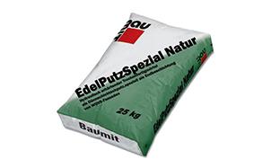 "Известково-цементная декоративная штукатурка Baumit EdelPutzSpezial Natur Rille ""короед"" 2"