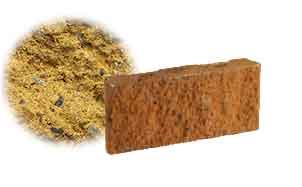 Облицовочный бетонный камень рядовой Меликонполар СКЦ 2Л-17 желтый
