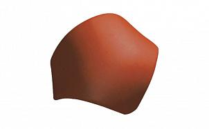 Керамическая черепица вальмовая гладкая 17 см TONDACH 70-вишневый глазурь