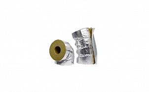 Отвод с покрытием из алюминиевой фольги с нахлестом на продольном разрезе Hvac Bend AluCoat T