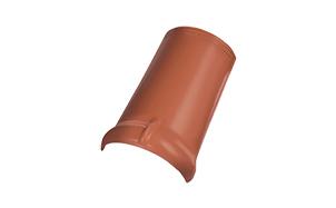 Керамическая черепица коньковая/хребтовая черепица Koramic №11 Noble Brick Red Engobe