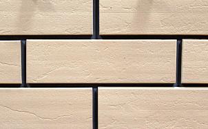 Фасадная клинкерная плитка Экоклинкер ваниль скала