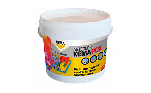 Двухкомпонентный эпоксидный клей и фуга KEMA Kemapox Artcolor A50 (коричневый)