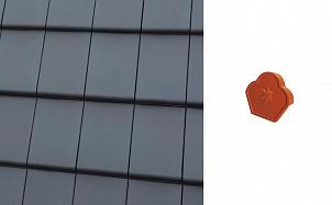 Конечный коньковый торцевой элемент Roben Bergamo Schifergrau
