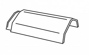Керамическая коньковая черепица  с зажимом для конька BRAAS Изумруд антрацит ангоб