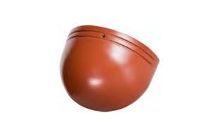 Керамическая черепица начальная хребтовая Koramic №11 Red Engobe