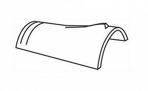 Керамическая коньковая черепица BRAAS Кониш П темно-коричневый ангоб