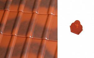 Коньковый начальный торцевой элемент Roben Piemont рустикальный пестрый ангоб