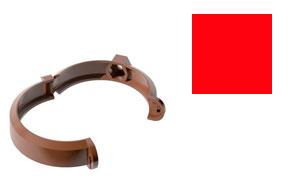 Хомут трубы металлический Verat красный
