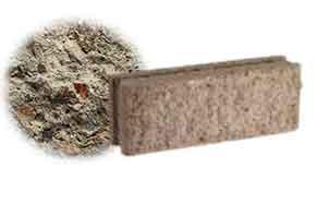Облицовочный бетонный камень рядовой Меликонполар СКЦ 2Л-10 серый