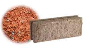 Облицовочный бетонный камень рядовой Меликонполар СКЦ 2Л-10 красный 5%