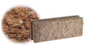 Облицовочный бетонный камень рядовой Меликонполар СКЦ 2Л-10 коричневый 3%