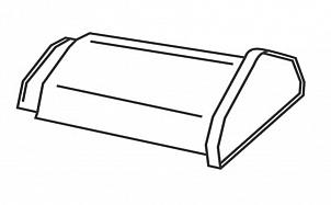 Керамическая начальная коньковая черепица BRAAS Изумруд черный кристалл топ-глазурь