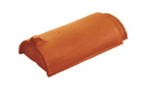 Керамическая черепица начальная коньковая Koramic №1 Dark Brown Engobe