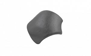 Цементно-песчаная вальмовая черепица с зажимами (3 шт.) BRAAS Тевива графит