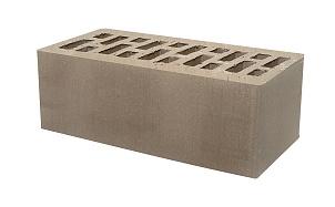 Кирпич утолщенный пустотелый Тербунский гончар коричневый (темно-серый) гладкий 250*120*88 мм (г. Липецк)