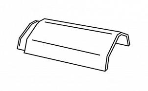 Керамическая коньковая черепица с зажимом для конька BRAAS Турмалин антрацит ангоб