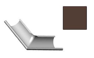Угол желоба внешний CM Vattern темно-коричневый 130 град.