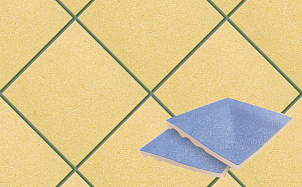 Плитка для стока угловая для промышленных помещений Stroeher Secuton ТS30 gelb