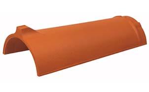 Керамическая черепица коньковая/хребтовая Koramic № 20 Natural Red