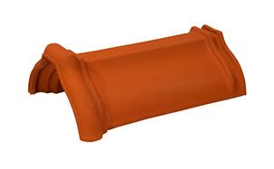 Керамическая черепица коньковая/хребтовая Koramic №2 Red Engobe