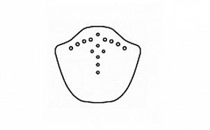 Коньковый торцевой элемент BRAAS Изумруд антрацит ангоб
